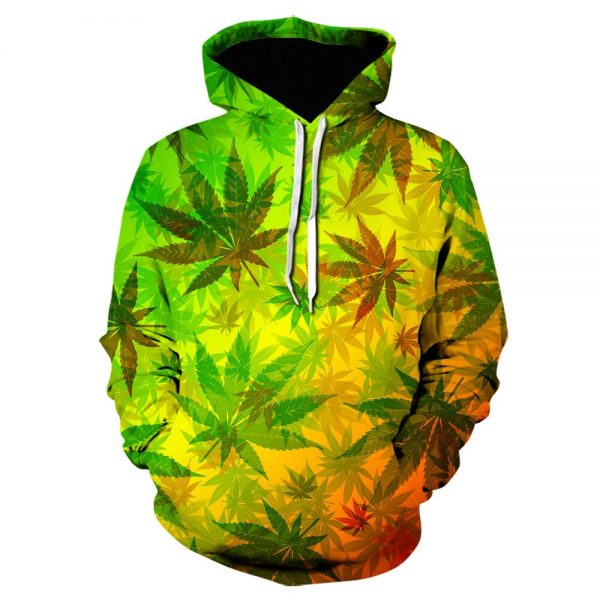 Weed Jumper Colourful Bright