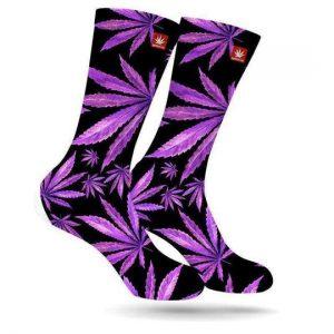 Purple Weed Socks